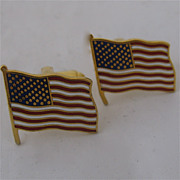 Dante American Flag Enamelled Cuff Links