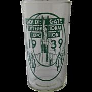 1939 Golden Gate International Exposition Glass Tumbler