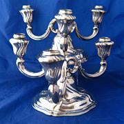 Pair 835 Silver Candelabra Bruckmann & Sohne Germany