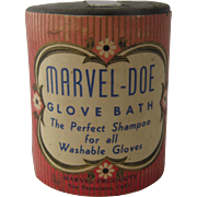 Ca 1930s Marvel-Doe Glove Bath Can