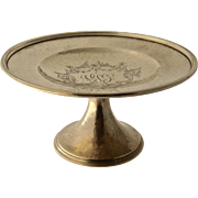 1914 Gorham Hammered Sterling Silver Tazza or Card Receiver