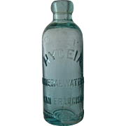 Late 1800s Hygiea Mineral Water San Francisco Bottle Blob Top Turquoise