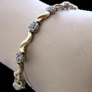 """10K Diamonds Flower Cluster Tennis Bracelet 7"""""""