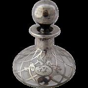 Art Nouveau Sterling Iris Overlay Perfume by LaPierre