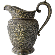 """American Sterling Repousse Water Pitcher Southern Rose by Manchester 10"""""""