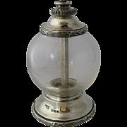 Antique Mappin & Webb Crystal Sterling Pepper Grinder