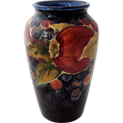 Moorcroft Pomegranate Vase Potter to the Queen