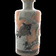 SOLD Jorge Wilmot Tonala Mexico Stoneware Fish Vase
