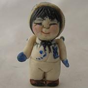 Miniature Nita Gehlhardt Porcelain Doll Painted Details