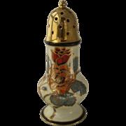 Early 1900s Noritake Sugar Shaker Porcelain Gilded HP Roses Mufineer