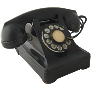 1940s Western Electric Black Desk Telephone Rotary Dial
