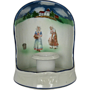 Royal Bayreuth Brittany Women Porcelain Candlestick