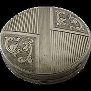 Art Deco 800 Silver Compact Vienna Austria ca 1930