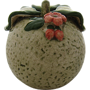 Japanese Kutani Yuzu Fruit Centerpiece Hand Painted Ceramic Ca 1885