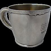 Arts & Crafts Shreve SF Sterling Child's Cup Mug