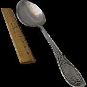 "Huge 1913 Danish Silver Stuffing Spoon 15"""