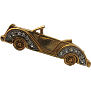 Vintage Trifari Roadster Touring Car Pin or Brooch