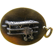 WWI Era Triplane Watch Fob or Key Chain Fob