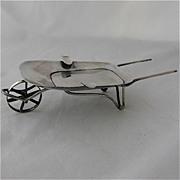 Sterling Wheelbarrow Ashtray Mexico 1920s-40s