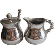 Mariposa String Of Pearls Sugar Creamer Spoon Set