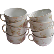 Pink Roses Johnson Brothers Antique China 8 Cups Only