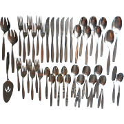 American Charm Stainless Steel Flatware Set Vintage International