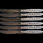 Silver Valentine 1973 Vintage Silver Knives Oneida Community 6
