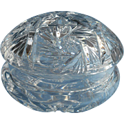 Vanity Jar Powder Box Cut Glass Vintage