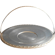 Silver Cake Fruit Basket Vintage 1940s Sheridan