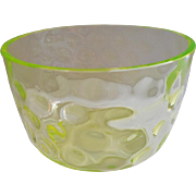 Vaseline Inverted Thumbprint Finger Bowl Antique Glass