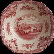 Pink Old Britain Castles Johnson Brothers England Cereal Bowl Vintage