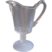 Three  Face EAPG Creamer Antique Pressed Glass Cream Pitcher