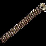 SOLD Locket Bracelet US Navy Sweetheart Vintage Tri Color Gold Filled Sterling Silver TLC