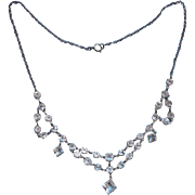 ca 1920 Festoon Necklace Crystal Very Vintage