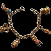 Vintage Avon Charm Bracelet Antique Styled Charms