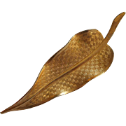 Vintage Hair Clip Leaf Shape Very Good Quality 1960s