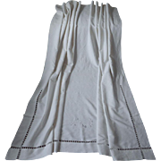 1920s Italian Wedding Coverlet Bedspread Vintage Linen Heavy