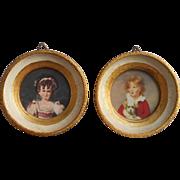 Pair Florentine Vintage Frames Little Mid Century Italy Wood Gesso