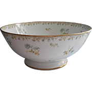 Punch Bowl Haviland Limoges French China Antique Blue Yellow Gold