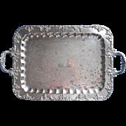 Tray Silver On Copper Grapes Vintage Handles Serving Tea Set TLC