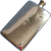 1920s Hip Flask Apollo Silver 9 Ounce Monogram F D B