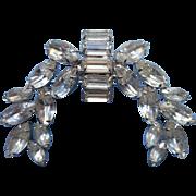 Rhinestone Vintage Pin Brooch Large Laurels Swag Effect
