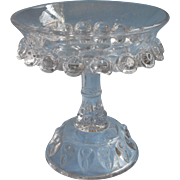 Rare EAPG Pattern Small Relish Compote Antique Pressed Glass