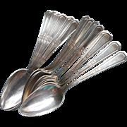 Monogram M 14 Silver Teaspoons Vintage Mayfair 1923