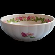 French Pillivuyt Porcleain Dish Vintage Pink Flowers Berries Atelier De Tabalou