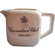 Whisky Water Pitcher Canadian Club Vintage Barware China