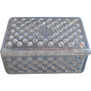 SOLD French Opalescent Hobnail Box Vintage Anchor Hocking Moonstone
