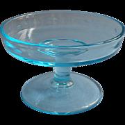 Celeste Blue Vintage 1920s Compote For Cracker Plate Vintage