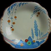 Wedgwood Art Deco China Dessert Serving Plate Utopia Pattern Rare