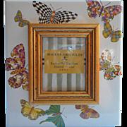 MacKenzie Childs Frame Butterfly Garden Market Enamel Photo Picture